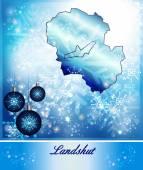 Map of Landshut — Stock Vector