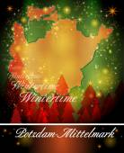 Map of Potsdam-Mittelmark — Vettoriale Stock