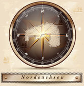Map of Nordsachsen — Stock vektor