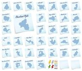 Collage of Rhineland-Palatinate with counties — Stock Photo