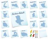 Collage of Saxony-Anhalt counties — Stock Photo