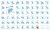 Collage of North Rhine-Westphalia with counties — Stock Photo