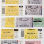 Постер, плакат: Concert Tickets