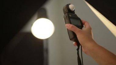 Flash Photography Studio Light Reading — Stock Video