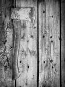 Old Axe Black and White — Stock Photo