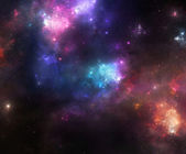 Colorful Space Nebulae — Stock Photo