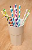 Straws in a mug — Stock Photo