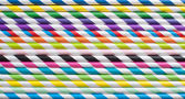 Colorfull straws on a table — Stock Photo