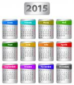 2015 Spanish calendar — Stock Vector