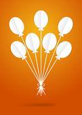 Paper balloons — Stock Vector