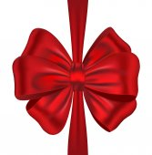 Red ribbon bow — Stock Vector