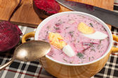 Beet soup cold. — Stockfoto
