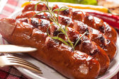 Grilled sausage. — Stock Photo