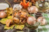 Marinated mushrooms. — Stock Photo