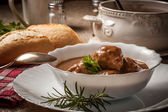 Meatballs in the sauce. — Stock Photo