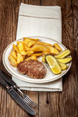 Fried chop. — Stock Photo