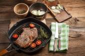 Fried beef steak. — Stock Photo