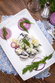 Tasty herring in pieces. — Stock Photo