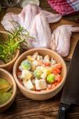 Fresh chicken wings. — Stock Photo