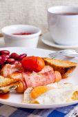 Full english breakfast. — Stock Photo