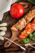 Grilling shashlik. — Stock Photo
