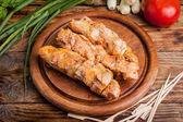 Grilling shashlik. — Stock Photo