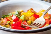 Ratatouille on a rustic table. — Stock Photo