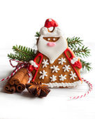 Gingerbread Santa Claus — Stockfoto