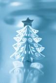 Decorative white Christmas tree — Foto de Stock