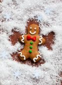 Gingerbread Snow Angel — Stock Photo