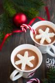 Chocolat chaud avec des guimauves — Photo