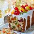 Christmas fruitcake — Stock Photo #53358487
