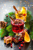 Orange and cranberry punch — Stock Photo