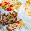 Christmas fruitcake — Stock Photo #53799597