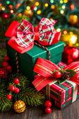 Jul gåva lådor — Stockfoto