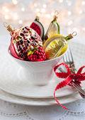 Vintage Christmas ornaments — Stock Photo