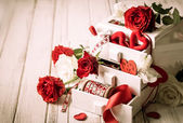 Various  decorations  for Valentine's Day — Stock Photo