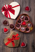 Chocolates for Valentine's Day — Zdjęcie stockowe
