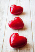 Red valentine day hearts — Stock Photo