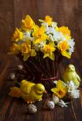 Easter table decoration — Stock Photo