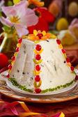 Traditional Easter quark dessert — Stock Photo