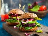 Quinoa burger with avocado — Stock Photo