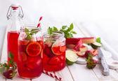 Homemade lemonade with mint — Stock Photo