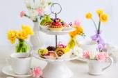 Assorted cakes and pastries — Stock Photo