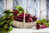 Fresh  beetroot in a basket — Stock Photo