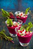 Beetroot gazpacho soup — Stock Photo