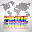 Word Pride with Rainbow Gay Flag — Stock Photo #54997043