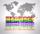 Word Marriage with Rainbow Gay Flag — Stock Photo