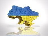 Map of  Ukraine — Stock Photo