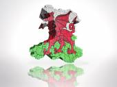 Map of  Wales — Stock Photo